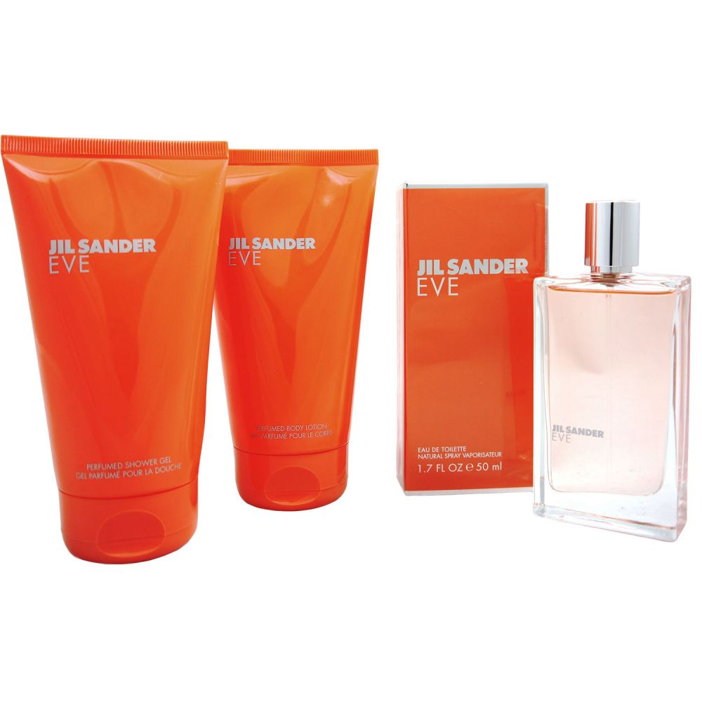 jil sander eve 50 ml edt 150 ml bl 150 ml dg set bei pillashop. Black Bedroom Furniture Sets. Home Design Ideas