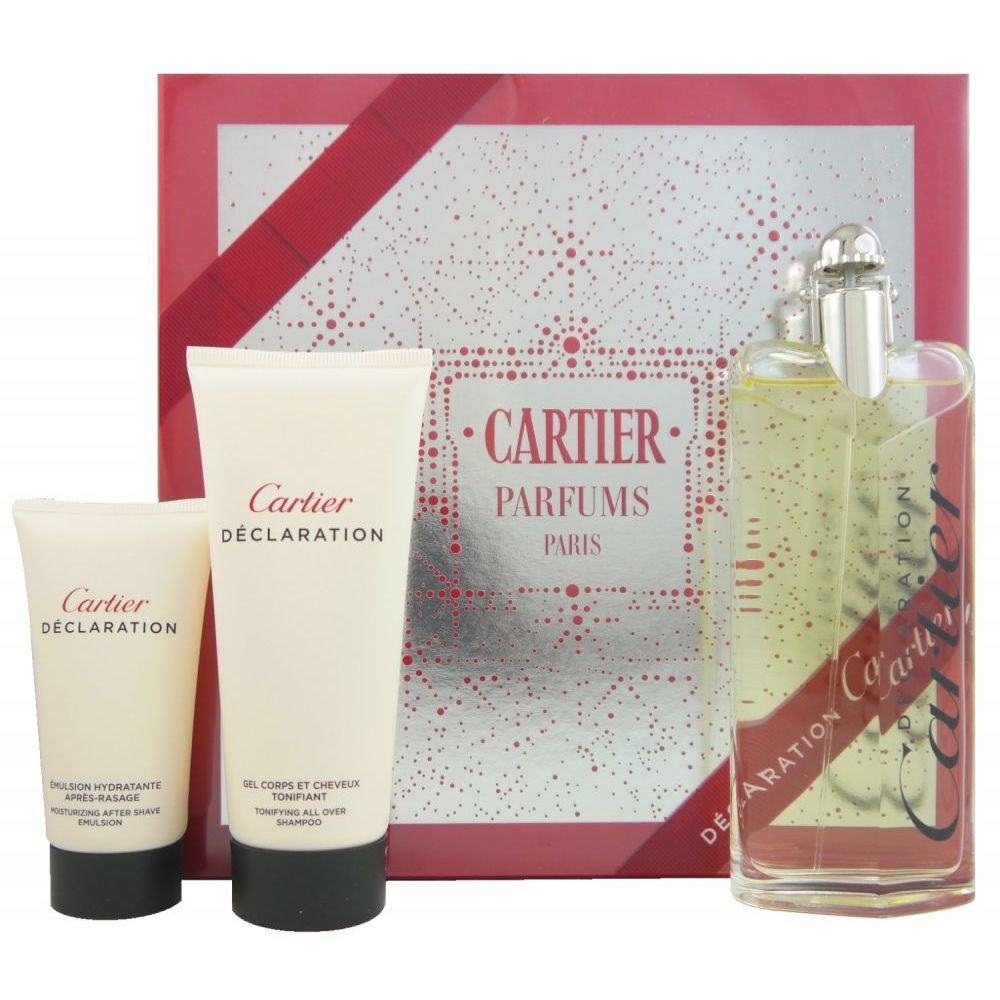 Cartier Déclaration Set 100 ml EDT & 50 ml Aftershave & 100ml Gel ...